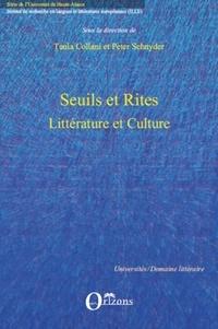 Tania Collani et Peter Schnyder - Seuils et Rites - Littérature et culture.