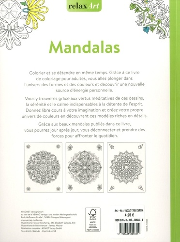 Mandalas. Coloriage et détente