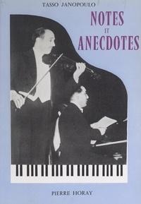 Tasso Janopoulo - Notes et anecdotes.