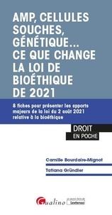 Tatiana Gründler et Camille Bourdaire-Mignot - AMP, cellules souches, génétique... Ce que change la loi de bioéthique de 2021 - 8 fiches pour présenter les apports majeurs de la loi du 2 août 2021 relative à la bioéthique.