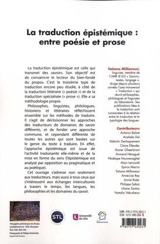 La traduction épistémique : entre poésie et prose