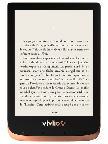 Papeterie Papeterie - Liseuse Touch HD plus bronze Vivlio.