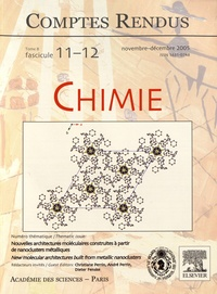 Christiane Perrin et André Perrin - Comptes Rendus Chimie Tome 8 N° 11-12, nov : Nouvelles architectures moléculaires construites à partir de nanoclusters métalliques.