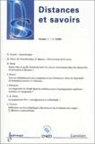 Martine Vidal et Monique Grandbastien - Distances et savoirs Volume 1 N° 1/2003 : .