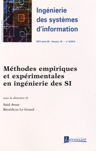 Ingénierie des systèmes dinformation Volume 20 N° 6, nove.pdf