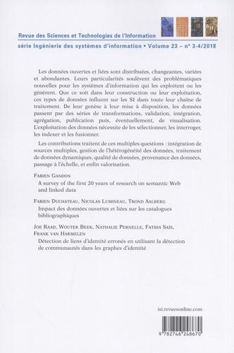Ingénierie des systèmes d'information Volume 23 N° 3-4, ma Impact des open et/ou linked data dans les SI