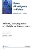Maxime Morge et Alexandre Pauchet - Revue d'Intelligence Artificielle RSTI Volume 28 N° 1, Janv : Affects, compagnons artificiels et interactions.