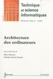 Marc Daumas et Nathalie Drach-Temam - Revue des Sciences et Technologies de l'Information Volume 29 N° 2, Févr : Architecture des ordinateurs.