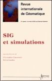 Christophe Claramunt et Sylvie Lardon - Revue internationale de géomatique Volume 10 N° 1/2000 : SIG et simulations.