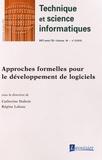 Catherine Dubois et Régine Laleau - Technique et science informatiques Volume 34 N° 5, Sept : Approches formelles pour le développement de logiciels.