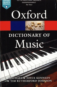 The Oxford Dictionary of Music.