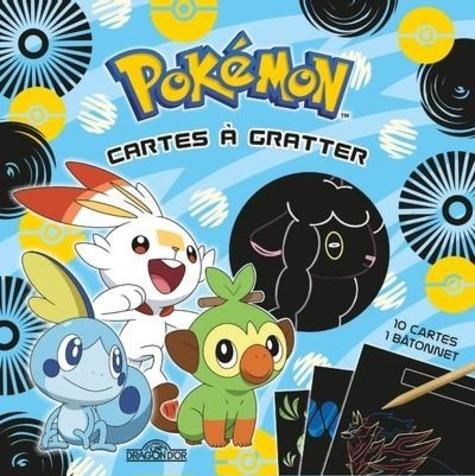 Pokémon Cartes à gratter Galar. Avec 10 cartes, 1 bâtonnet