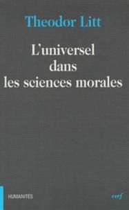 Theodor Litt - L'universel dans les sciences morales.
