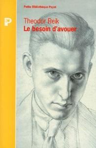 Deedr.fr LE BESOIN D'AVOUER. Psychanalyse du crime et du châtiment Image