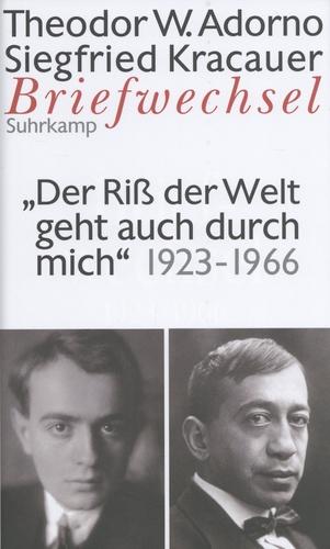 Theodor W. Adorno et Siegfried Kracauer - Briefwechsel 1923-1966.