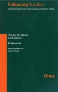 Theodor W. Adorno - Erich Doflein: Briefwechsel - Mit einem Rundfunkgespräch und 3 Aufsätzen Erich Dofleins.
