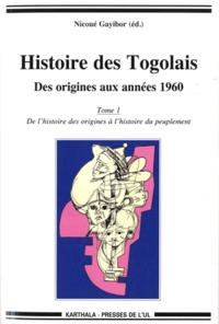 Théodore Nicoué Gayibor - Histoire des togolais - Tome 1 à 4.