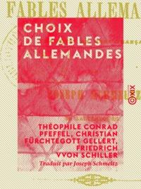 Théophile Conrad Pfeffel et Christian Fürchtegott Gellert - Choix de fables allemandes.