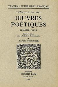 Théophile de Viau - Oeuvres poétiques - Première partie.