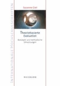 Theoriebasierte Evaluation - Konzepte und methodische Umsetzungen.