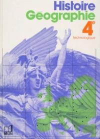 Thérèse Ricadat et Jean Ruhlmann - Histoire-géographie 4e technologique.