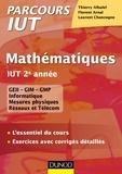 Thierry Alhalel et Laurent Chancogne - Mathématiques IUT 2e année - L'essentiel du cours, exercices avec corrigés détaillés.