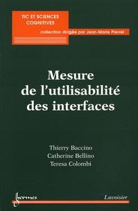 Thierry Baccino et Catherine Bellino - Mesure de l'utilisabilité des interfaces.