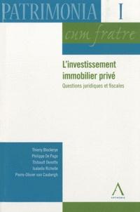 Rhonealpesinfo.fr L'investissement immobilier privé - Questions juridiques et fiscales Image