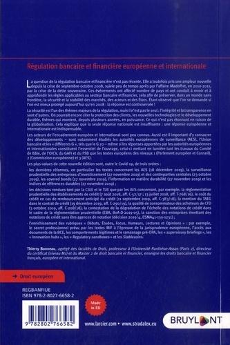 Régulation bancaire et financière européenne et internationale 5e édition