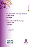 Thierry Côme et Ludmila Meskova - Les Universités en Europe centrale, 20 ans après - Volume 2, Economie et Management.