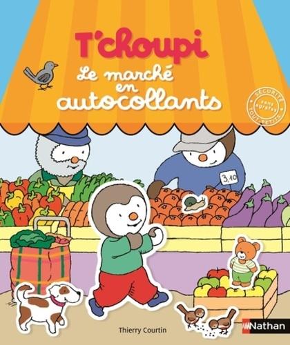 Thierry Courtin - Le marché en autocollants.
