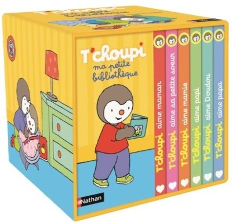 Thierry Courtin - Ma petite bibliothèque T'choupi - Contient 6 livres : T'choupi aime maman ; T'choupi aime papa ; T'choupi aime sa petite soeur ; T'choupi aime mamie ; T'choupi aime papi; T'choupi aime doudou.