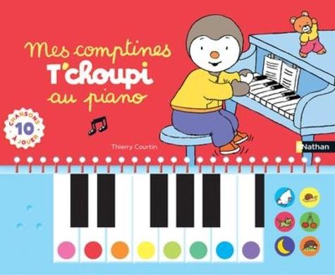 Mes comptines T'choupi au piano. Avec 10 chansons à jouer