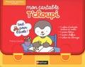 Thierry Courtin - Mon cartable T'choupi Moyenne section 4-5 ans - Coffret avec 1 cahier d'activités écriture et maths, 1 poster lettres, 1 poster chiffres et 1 cahier de coloriages.