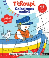 Thierry Courtin - T'choupi coloriages malins - Moyenne Section.