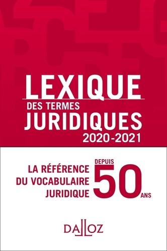 Lexique des termes juridiques  Edition 2020-2021