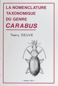Thierry Deuve - Nomenclature taxonomique du genre Carabus.