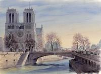 Thierry Duval - Vues de Paris à l'aquarelle - Ouvrage bilingue.