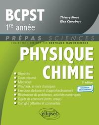 Thierry Finot et Elsa Choubert - Physique-Chimie BCPST1 - Nouveaux programmes - 3e édition.