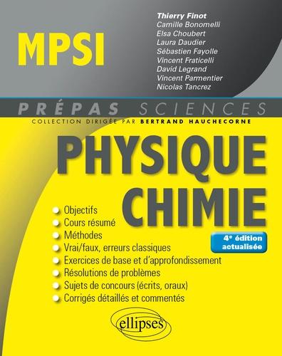 Thierry Finot et Camille Bonomelli - Physique-Chimie MPSI.