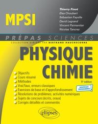 Thierry Finot et Elsa Choubert - Physique-Chimie MPSI.