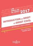 Thierry Garé - Annales Introduction au droit et droit civil 2017 - Méthodologie & sujets corrigés.