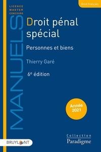 Droit pénal spécial- Personnes et biens - Thierry Garé pdf epub