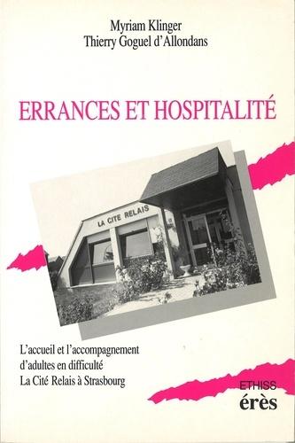 Errances et hospitalité. L'accueil et l'accompagnement d'adultes en difficulté, la Cité Relais à Strasbourg
