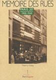 Thierry Halay - Paris 20e arrondissement - 1900-1940.
