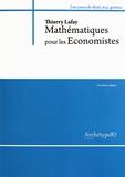 Thierry Lafay - Mathématiques pour les économistes L2.