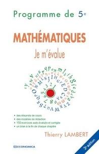 Mathématiques- Programme de 5e - Thierry Lambert | Showmesound.org