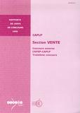 Thierry Lefeuvre - CAPLP section vente - Concours externe, CAFEP-CAPLP, Troisième concours.