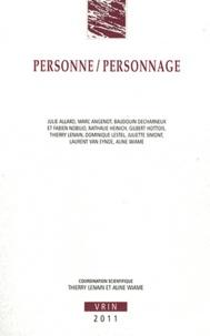 Thierry Lenain et Aline Wiame - Personne/Personnage.