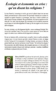 Thierry Magnin - Ecologie et économie en crise : qu'en disent les religions ?.